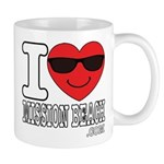 I Love Mission Beach Mugs