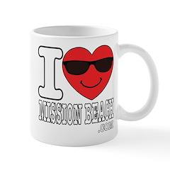 I Love Mission Beach Mugs