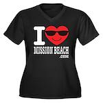 I Love Mission Beach Plus Size T-Shirt
