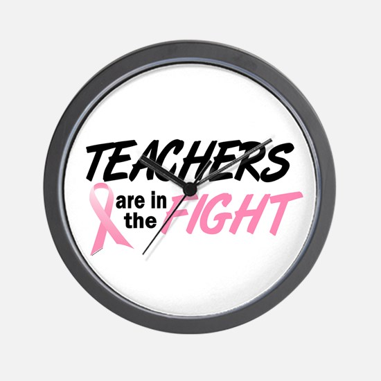 Teachers In The Fight Wall Clock