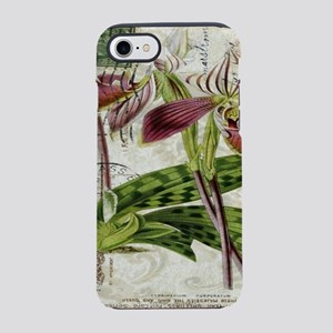 vintage orchid french botani iPhone 8/7 Tough Case
