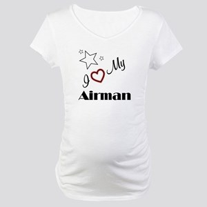I Love My Airman - Maternity T-Shirt