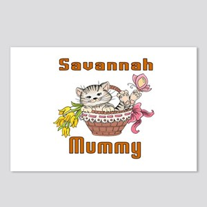 Savannah Cats Mummy Postcards (Package of 8)