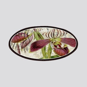 vintage orchid french botanical Patch
