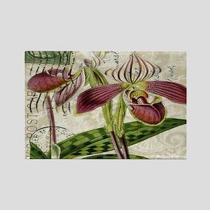 vintage orchid botanical art Magnets