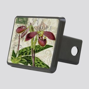 vintage orchid french bota Rectangular Hitch Cover