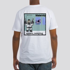 Spawn Camping Mat. Fitted T-Shirt