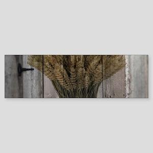 barnwood wheat western country Bumper Sticker