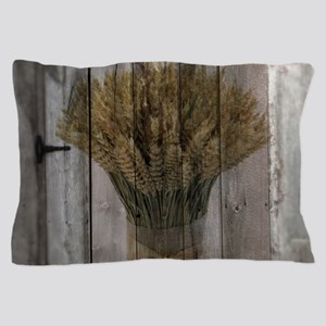 barnwood wheat western country Pillow Case