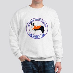 bl/wh sardog border collie Sweatshirt