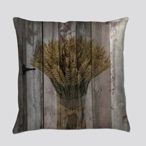 barnwood wheat western country Everyday Pillow