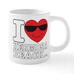 i Love Hermosa Beach Mugs