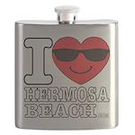 i Love Hermosa Beach Flask