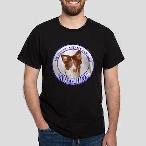 Search dog border collie Dark T-Shirt
