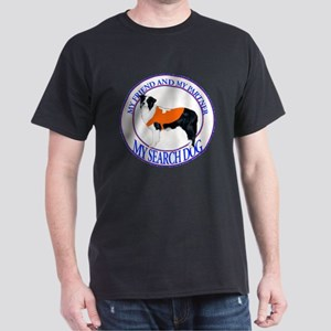 Search dog border collie Dark T-Shirt