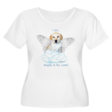 Lab 12 Women's Plus Size Scoop Neck T-Shirt