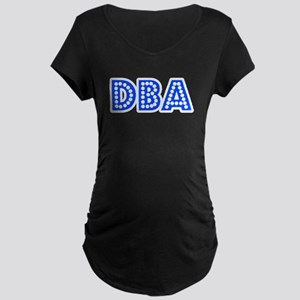 Retro DBA (Blue) Maternity Dark T-Shirt
