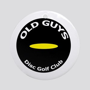 Old Guys Disc Golf Club Round Ornament