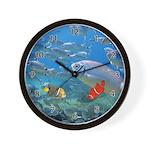 Oceans Of Fish Wall Clock