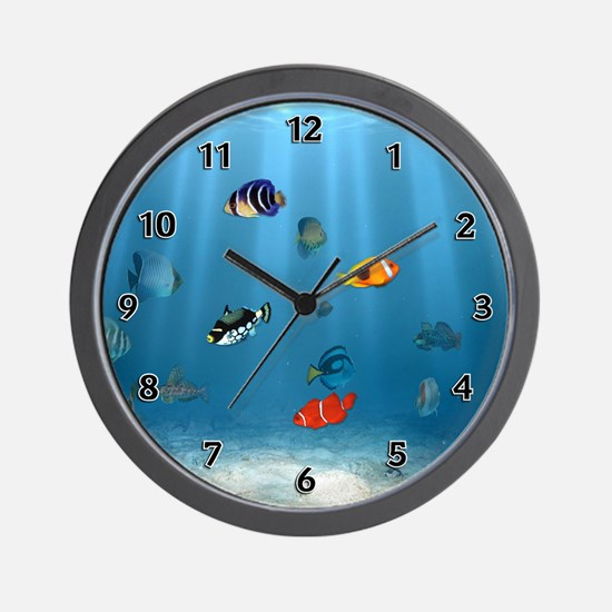 Oceans Of Fish Wall Clock