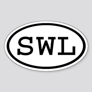 SWL Oval Oval Sticker