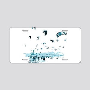 Kite Surfing Aluminum License Plate