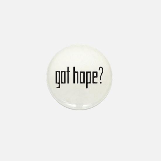 got hope? black Mini Button