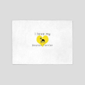 I love my boston terrier 5'x7'Area Rug