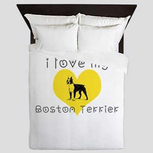 I love my boston terrier Queen Duvet