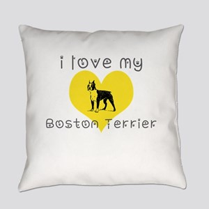 I love my boston terrier Everyday Pillow