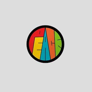 Peace Wordart Mini Button