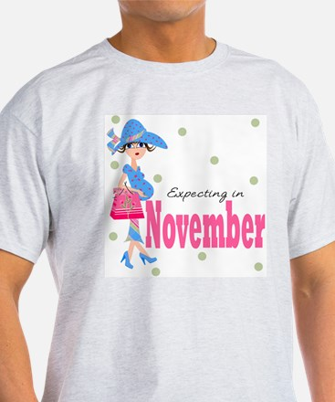 Expecting in November T-Shirt