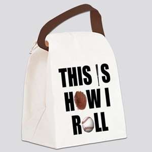 Baseball How I Roll Canvas Lunch Bag