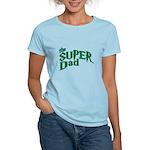 Lightning Bolt Font Super Dad Women's Light T-Shir