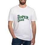 Lightning Bolt Font Super Dad Fitted T-Shirt