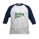 Lightning Bolt Font Super Dad Kids Baseball Jersey