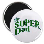 Lightning Bolt Font Super Dad Magnet