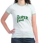 Lightning Bolt Font Super Dad Jr. Ringer T-Shirt