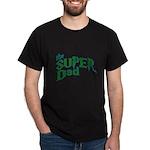 Lightning Bolt Font Super Dad Dark T-Shirt