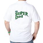 Lightning Bolt Font Super Dad Golf Shirt