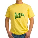 Lightning Bolt Font Super Dad Yellow T-Shirt