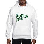 Lightning Bolt Font Super Dad Hooded Sweatshirt