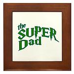 Lightning Bolt Font Super Dad Framed Tile