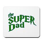 Lightning Bolt Font Super Dad Mousepad