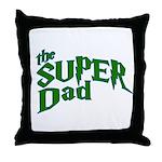 Lightning Bolt Font Super Dad Throw Pillow