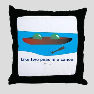 in a Canoe Throw Pillow