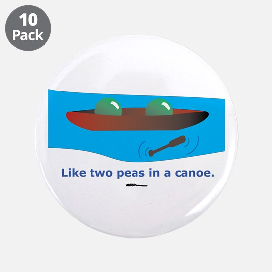 """in a Canoe 3.5"""" Button (10 pack)"""