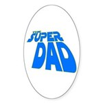 The Super Dad Oval Sticker (10 pk)