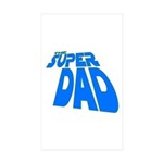 The Super Dad Rectangle Sticker 10 pk)