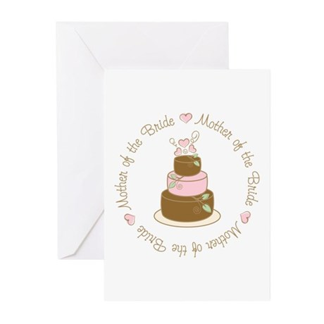 Mother of the Bride Cake Greeting Cards (Pk of 10)